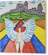 Nude Angel Road Wood Print