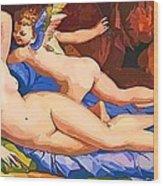 Nude Art Painting Wood Print