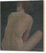Nude Back Wood Print