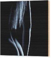 Nude Backside And Hair Wood Print