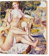 Nude Bathers Wood Print