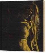 Nude - Chiaroscuro Wood Print