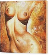 Nude Details Wood Print by Emerico Imre Toth