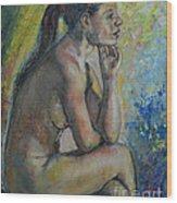 Nude Eva 2 Wood Print