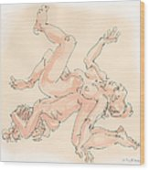 Nude Female Drawings 16 Wood Print