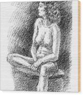 Nude Female Sketches 2 Wood Print