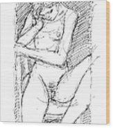 Nude Female Sketches 4 Wood Print