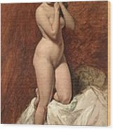 Nude From The Front Wood Print