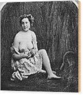 Nude In Field, C1850 Wood Print