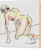 Nude Male Drawings 3w Wood Print