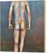 Nude Male With Blemishes Wood Print