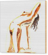 Nude Model Gesture IIi Wood Print