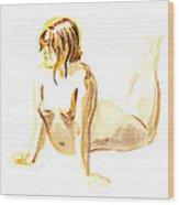 Nude Model Gesture Iv Wood Print