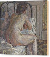 Nude On A Bed, C.1914 Wood Print