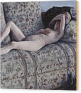 Nude On A Couch Wood Print