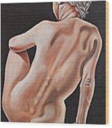 Nude On A Pedestal Wood Print