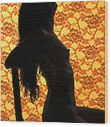 Nude On Chair Color Wood Print