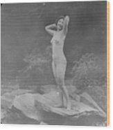 Nude Outdoors, 19th Ct Wood Print