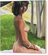 Nude Picnic 1 Wood Print