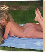 Nude Picnic 3 Wood Print