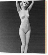 Nude Posing, 1921 Wood Print