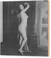 Nude Posing, 19th Ct Wood Print