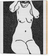 Nude Sketch 10 Wood Print