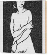 Nude Sketch 2 Wood Print
