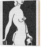 Nude Sketch 4 Wood Print