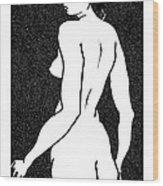 Nude Sketch 6 Wood Print