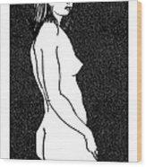 Nude Sketch 8 Wood Print