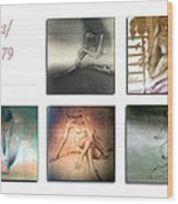 Nude Sketches 1978 To 79 Wood Print