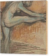 Nude Study For A Dancer At The Bar Wood Print