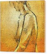 Nude Viii Wood Print