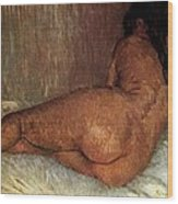 Nude Woman Reclining Wood Print