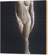 Nude Woman - Wood Sculpture Wood Print