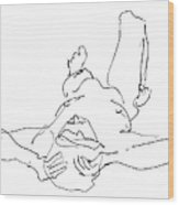 Nude_male_drawings-22 Wood Print