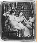 Nudes Having Tea, C1850 Wood Print