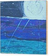 Nuestra Luna Wood Print
