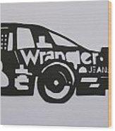 Number 3 Car Wrangler Wood Print