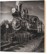 Number 4 Narrow Gauge Railroad Wood Print