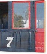 Number 7 Wood Print