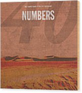 Numbers Books Of The Bible Series Old Testament Minimal Poster Art Number 4 Wood Print by Design Turnpike