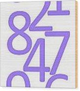Numbers In Purple Wood Print