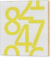 Numbers In Yellow Wood Print