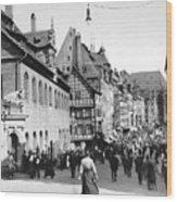 Nuremberg Street Scene Wood Print