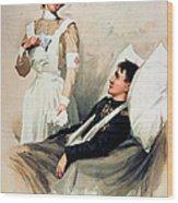Nurse: Calendar, 1899 Wood Print