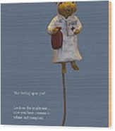 Nurse Mouse Wood Print