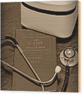 Nurse - The Care Giver Wood Print