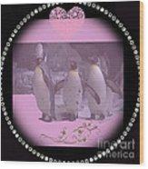 Nursery And Childrens Series Penguins Wood Print